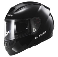 LS2 Vector Solid Gloss Black Full Face Helmet