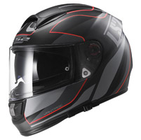 LS2 Vector Vantage Matte Black/Red Full Face Helmet