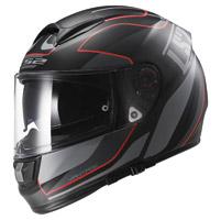 LS2 Citation Vantage Matte Black/Red Full Face Helmet