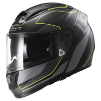 LS2 Vector Vantage Matte Black/Yellow Full Face Helmet