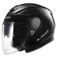 LS2 Infinity Solid Gloss Black Open Face Helmet