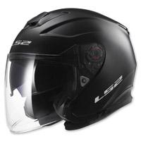 LS2 Infinity Solid Matte Black Open Face Helmet