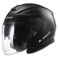 LS2 Infinity Solid White Open Face Helmet
