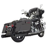 Bassani 4″ Black with Black Tip Straight Mufflers
