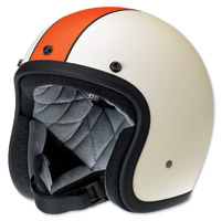 Biltwell Inc. Bonanza LE Racer Flat Cream/Orange Open Face Helmet