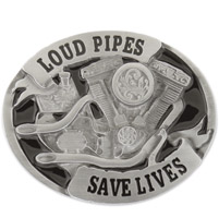 Hot Leathers Loud Pipes Saves Lives Belt Buckle