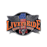 Hot Leathers Live to Ride #1 Belt Buckle