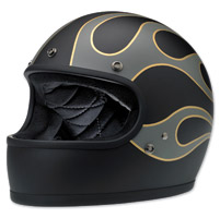 Biltwell Inc. Gringo LE Flames Flat Black/Gray Full Face Helmet