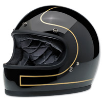 Biltwell Inc. Gringo LE Tracker Gloss Black/Gold Full Face Helmet