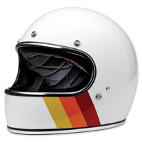 Biltwell Inc. Gringo LE Tri-Stripe Gloss White Full Face Helmet