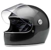 Biltwell Inc. Gringo S Gloss Metallic Charcoal Full Face Helmet