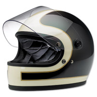 Biltwell Inc. Gringo S LE Tracker Gloss Black/Vintage White Full Face Helmet