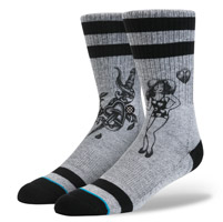 Stance Men's Heart Break Gray Crew Neck Socks
