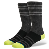 Stance Men's Falcon Black Crew Neck Socks