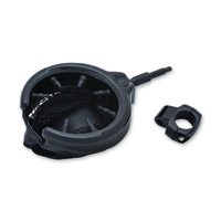 Kuryakyn Black Universal Drink Holder with Basket
