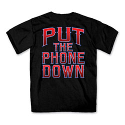Hot Leathers Men's Put The Phone Down Black T-Shirt