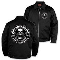 Hot Leathers Men's 2nd Amendment Black Mechanics Jacket