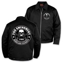 Hot Leathers Men's 2nd Amendment Black Mechanics Jacket