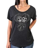 Hot Leathers Women's Sugar Couple Black Dolman T-Shirt