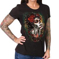 Hot Leathers Women's Sugar Woman Black T-Shirt