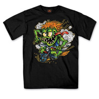 Hot Leathers Youth Cute Monster Black T-Shirt