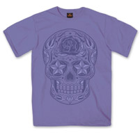Hot Leathers Youth Sugar Skull Violet T-Shirt