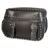 Willie & Max Mighty Legend Leather Studded Saddlebag Set