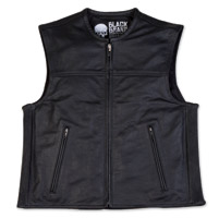Black Brand Men's Dagger Black Leather Vest