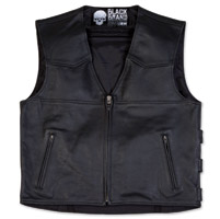 Black Brand Men's Guardian Black Leather Vest