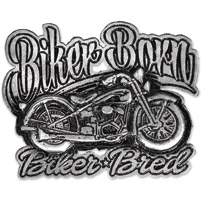 Hot Leathers Biker Born Biker Bred Pewter Pin