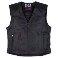Black Brand Women's Seraph Black Leather Vest