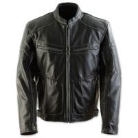 Black Brand Men's Cutthroat Stealth Black Leather Jacket
