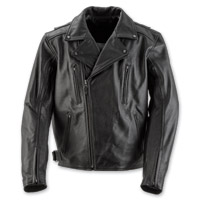 Black Brand Men's Neanderthal Black Leather Jacket