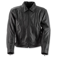 Black Brand Men's Primary Black Leather Jacket