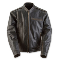 Black Brand Men's Compression Black Leather Jacket