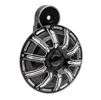 Arlen Ness 10-Gauge Billet Black Horn Kit