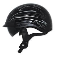 Zox Ignite Roadster DDV Silver Half Helmet