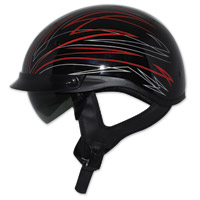 Zox Ignite Roadster DDV Red Half Helmet