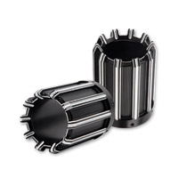 Arlen Ness 10-Gauge  Black Muffler Tips