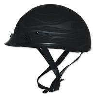 Zox Mikro Custom Flare Matte Black Half Helmet