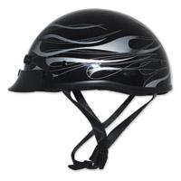Zox Mikro Custom Flare Black/Silver Half Helmet