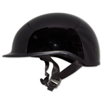 Zox Polo Sport Solid Black Half Helmet
