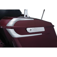Kuryakyn Chrome Tri-Line Saddlebag Hinge Covers