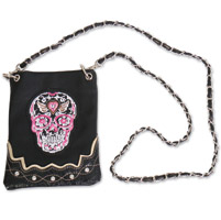 Hot Leathers Sugar Skull Black Purse