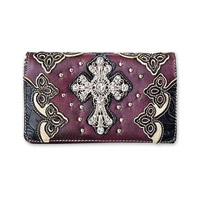 Hot Leathers Big Cross Purple Wrist Purse