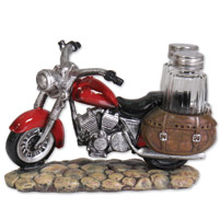 Hot Leathers Red Bike Salt And Pepper Shaker