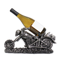 Hot Leathers Skeleton Cycle Black Wine Bottle Holder