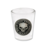 Hot Leathers Stencil Skull Shot Glass