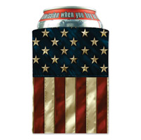 Hot Leathers American Flag Can Koozie