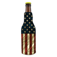Hot Leathers American Flag Bottle Koozie